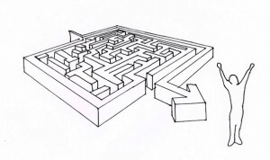 Matrix Structures - How to survive the matrix structure - a drawing of a maze