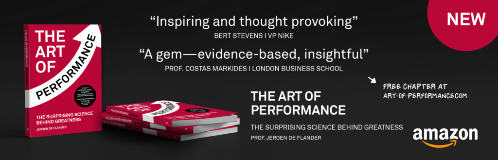 The Art of Performance is a new business book by author Jeroen De Flander
