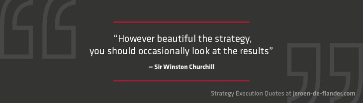 Strategy Questions - Quote: However beautiful the strategy, you should occasionally look at the results - Winston Churchill
